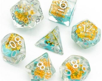 Davy Jones' Locker- sunken skull dice - D&D dice set for d20 rpgs or tabletop game, or fans of Critical Role or Dungeons and Dragons