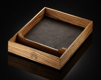 Zebrawood dice tray - dice box for dungeons and dragons, pathfinder, or any rpg - great as valet tray or gift for a Critical Role fan