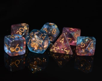 Iridescent Storm - sparkling storms of beauty - D&D dice set for d20 rpgs or tabletop game, or fans of Critical Role or Dungeons and Dragons