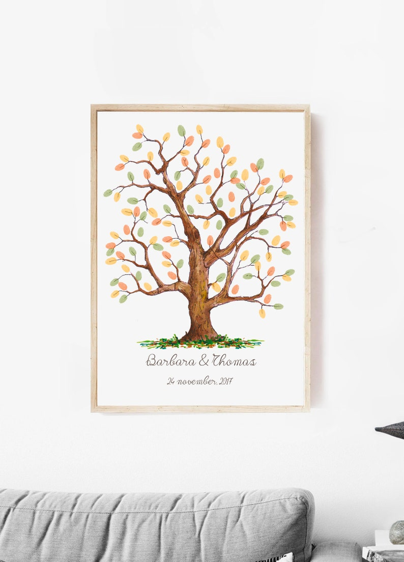 Hochzeit Fingerabdruck Baum Fingerabdruck Hochzeit Baum Etsy