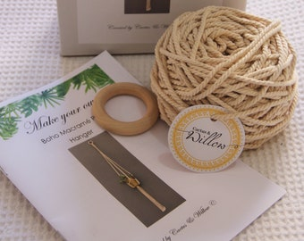 DIY Beginners Macrame Plant Hanger Kit - Includes all materials