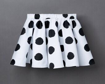 Organic Baby & Children's Skirt «Polka Dots» dotted Girl'S Frock Monochrome Rockabilly