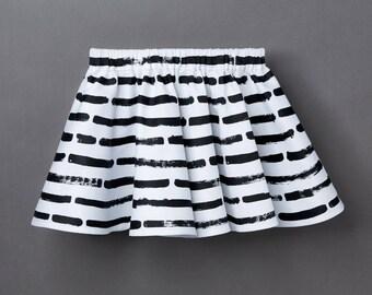 Organic Baby &Amp; children's Skirt «Stripes» striped Girl skirt Monochrome