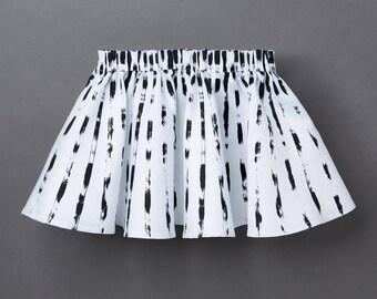 Organic Baby & Children's Skirt «Sunny» striped Girl skirt Monochrome
