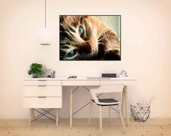 Illustration for wall decoration, cat