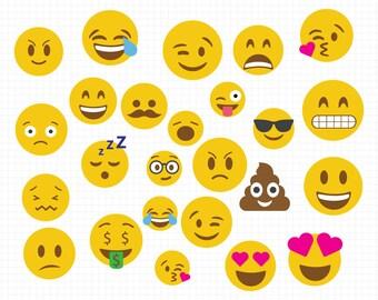 Emoji SVG Collection - Emoji DXF - Emoji Clipart - Svg Files for Silhouette Cameo or Cricut