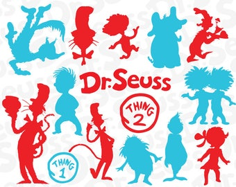 Cat in the Hat SVG, Cat in the Hat Files, Dr. Seuss Files, Cut Files Cricut Silhouette, Printable Decal, Dr Seuss Svg, Clipart