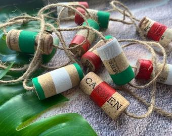 Wine cork garland, decorative garland, wine gift, holiday decor