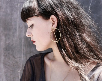 GOLD PLATED Q HOOPS