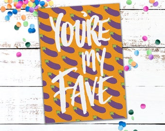 You're my favourite - Hand Illustrated Card