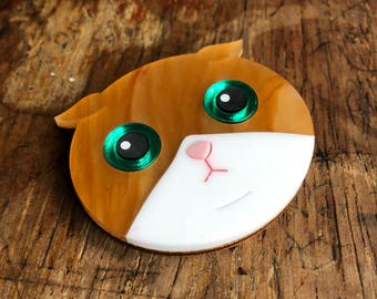 BLOSSOMLOVESLACES Acrylic Cat Brooch - Laser Cut