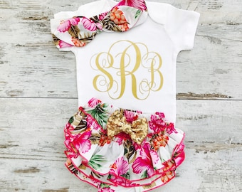 Personalized Baby Clothes, Baby Girl Clothes, Baby Clothes Girl, Monogram Baby Gift, Baby Girl Gift, Monogram Baby Girl, Baby Girl Clothes