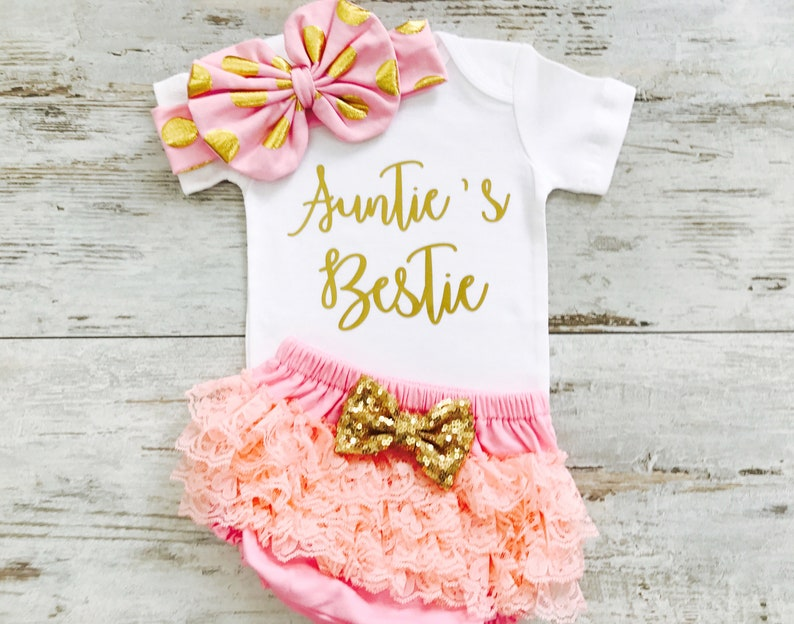 1c547f7cab68 Baby Girl Clothes Aunties Bestie Niece Gift Baby Niece