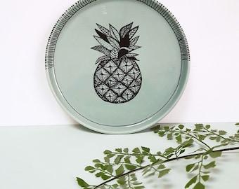 "Plate / / wall decor ""Pinapple"""