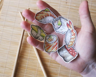 Sushi set - vinyl decals - version 1