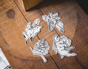 Oh my deer - set of 4 vinyl Stickers