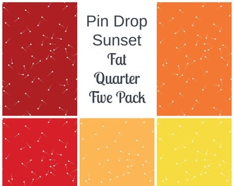 Sunset Colors Fat Quarter Bundle 6 Pack
