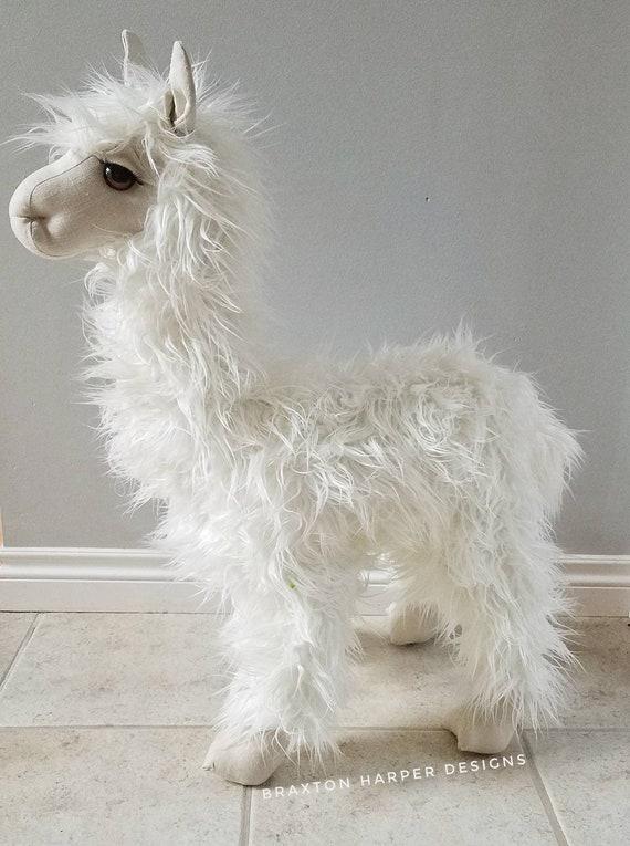 Lama en peluche debout lune de 30 po décor de chambre de lama décor de la pépinière décor décor de salle de jeux lama en peluche