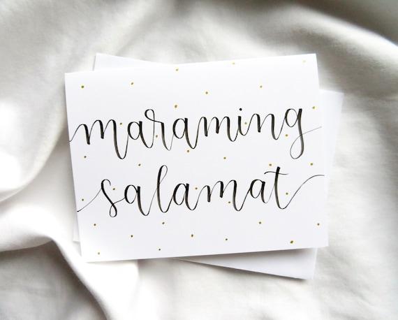 salamat thank you card filipino thank you card greeting etsy