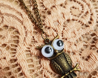 Wide-Eyed Owl Necklace