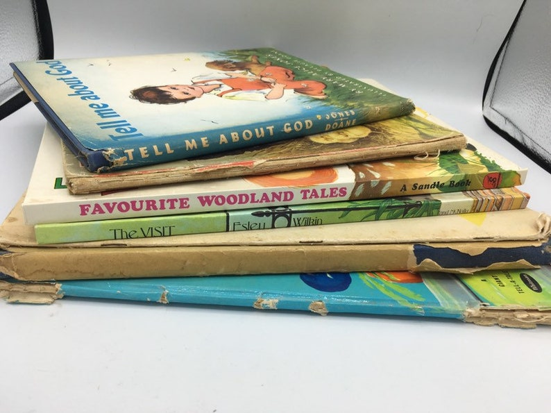 Vintage Baby Toddler BIG Books Collection, 9 books total