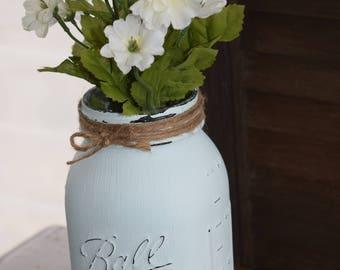 Rustic Mason Jar Flowers