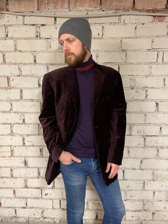 Men's Velvet Blazer / Suede Jacket / Wedding Men's