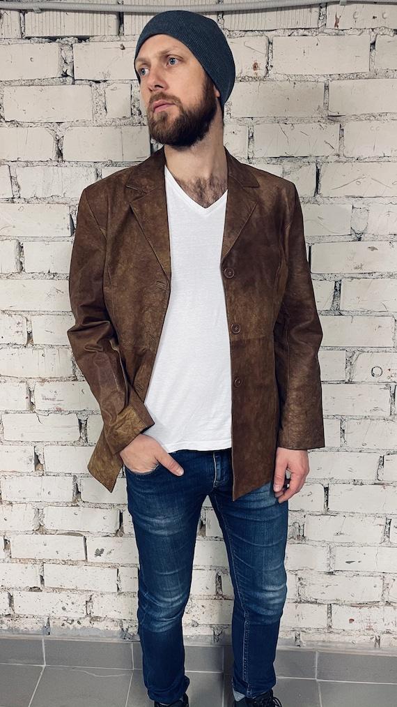 Leather Blazer / Leather Jacket / Classic Cardigan