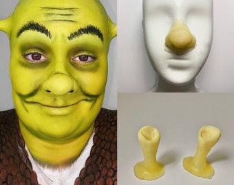 shrek nose and ears prosthetics - liquid latex - character prosthetics - cosplay - SFX makeup - shrek character