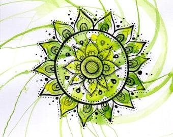Heart Chakra - Mandala Card