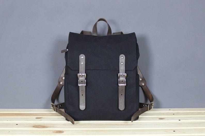 Canvas backpack Waterproof canvas backpack Leather backpack Canvas rucksack  Lapt... Canvas backpack Waterproof canvas backpack Leather backpack Canvas  ... 13fad7b19f5d9