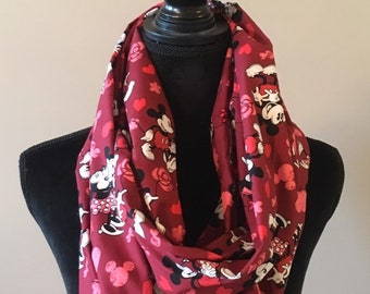 0a6e55836 Ladies' Disney Mickey Loves Minnie Mouse Valentines' Day Infinity Scarf-  LIMITED AVAILABILITY!
