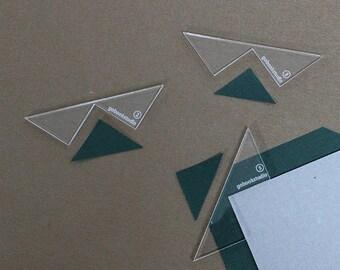 Acrylic Corner Cutting Tool Set for bookbinding (2mm,3mm,5mm)