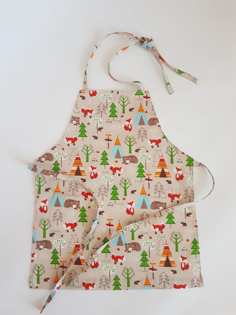 Kids aprons Cooking aprons Kids art apron Kitchen aprons Birthday gift Aprons for boys Handmade aprons Baking party apron Pretend play food