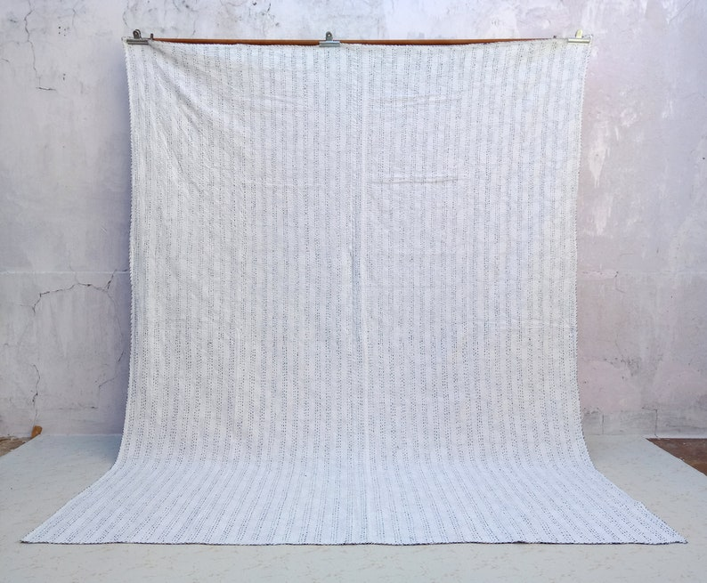 Blanket Bedspread Indigo Kantha Quilt Bedding Kantha Quilt Home Decor Amazing Indigo King Size Kantha Quilt Christmas Handmade Quilt