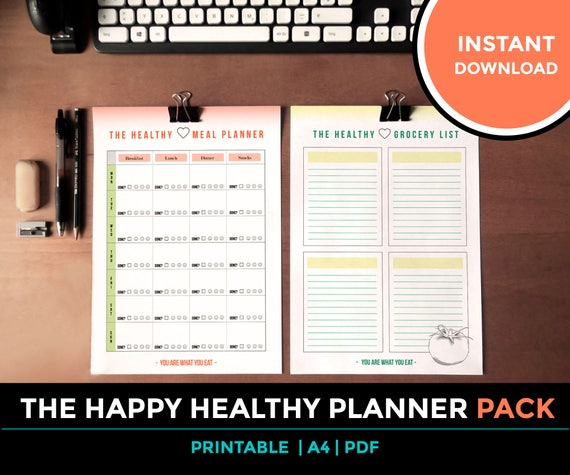 The Happy Meal Planner & Grocery List Mahlzeits und