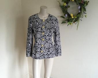 50ec6920077e6 Vintage Simon Ellis Occasions Floral Print Jacket. Size 10