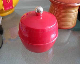 Vintage Bright Red Insulux Ice Bucket
