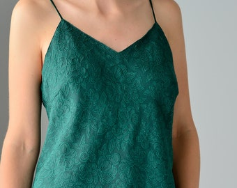 9f06aa82b5f Emerald green top with open back