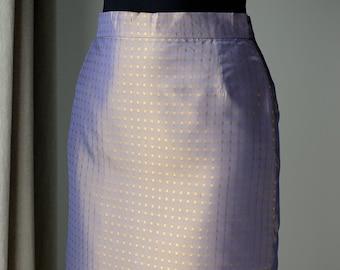 744dada5a9 Color changing skirt | Purple-golden midi skirt | Pencil skirt