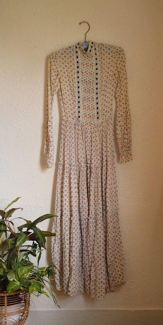 Vintage 1930s dress / 1930s 40s floral dress / vin