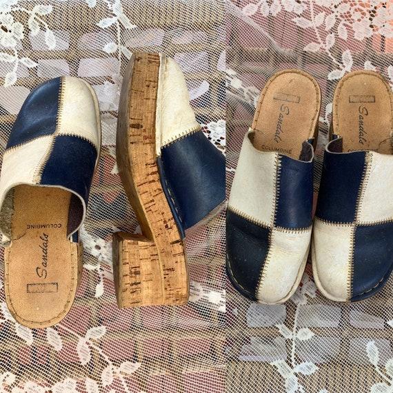 vintage platform shoes / vintage 1970s platform cl