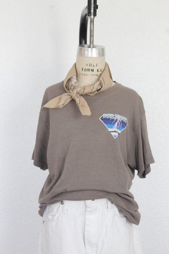 vintage bob seger t-shirt, vintage 80's tour t-shi