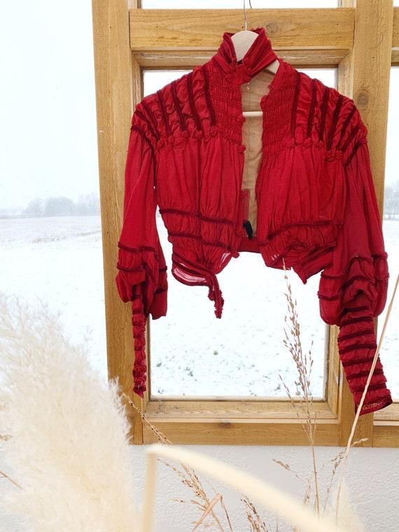 Vintage victorian bodice blouse / vintage corset b