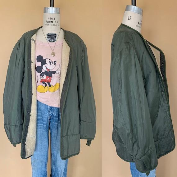 vintage army liner jacket / vintage army jacket li