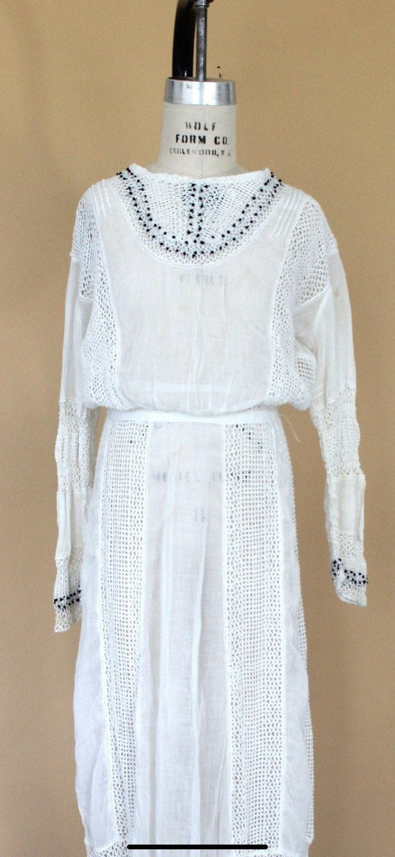 vintage edwardian crochet wedding dress, vintage e