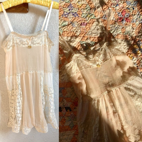 vintage antique 1920s 30s step in chemise / antiqu