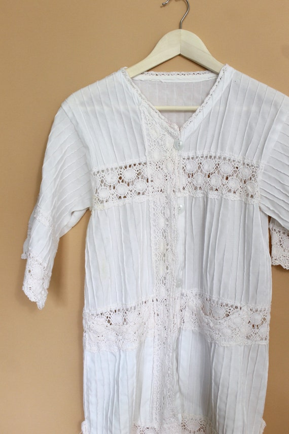 vintage 70s Mexican tunic crochet blouse / 70s me… - image 4