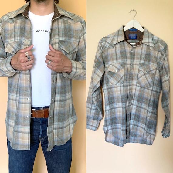 Vintage pendleton flannel western button down / 19