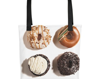 Donuts Gift Bag - Yummy Doughnut Cake Frosting Sprinkles - Fun Gift Bag for Presents and Parties - Food Lovers Dessert